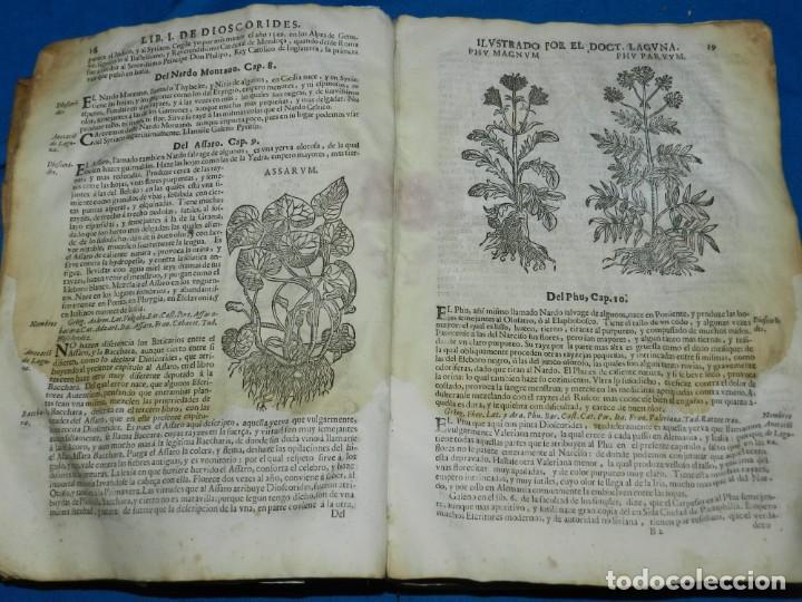 Libros antiguos: ANDRÉS DE LAGUNA - PEDACIO DIOSCORIDES ANAZARBEO ACERCA DE LA MATERIA MEDICINAL Y VENENOS MORTIFEROS - Foto 6 - 195486703