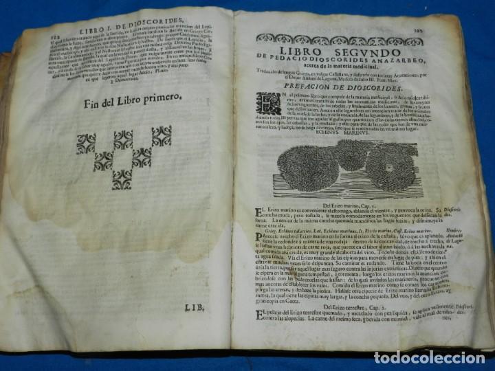 Libros antiguos: ANDRÉS DE LAGUNA - PEDACIO DIOSCORIDES ANAZARBEO ACERCA DE LA MATERIA MEDICINAL Y VENENOS MORTIFEROS - Foto 10 - 195486703