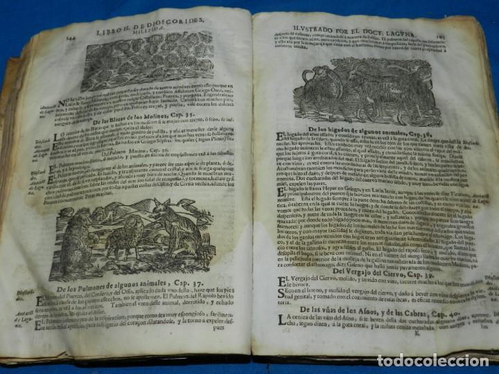 Libros antiguos: ANDRÉS DE LAGUNA - PEDACIO DIOSCORIDES ANAZARBEO ACERCA DE LA MATERIA MEDICINAL Y VENENOS MORTIFEROS - Foto 12 - 195486703