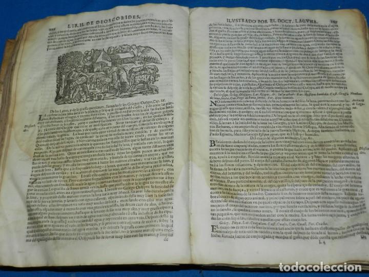 Libros antiguos: ANDRÉS DE LAGUNA - PEDACIO DIOSCORIDES ANAZARBEO ACERCA DE LA MATERIA MEDICINAL Y VENENOS MORTIFEROS - Foto 16 - 195486703