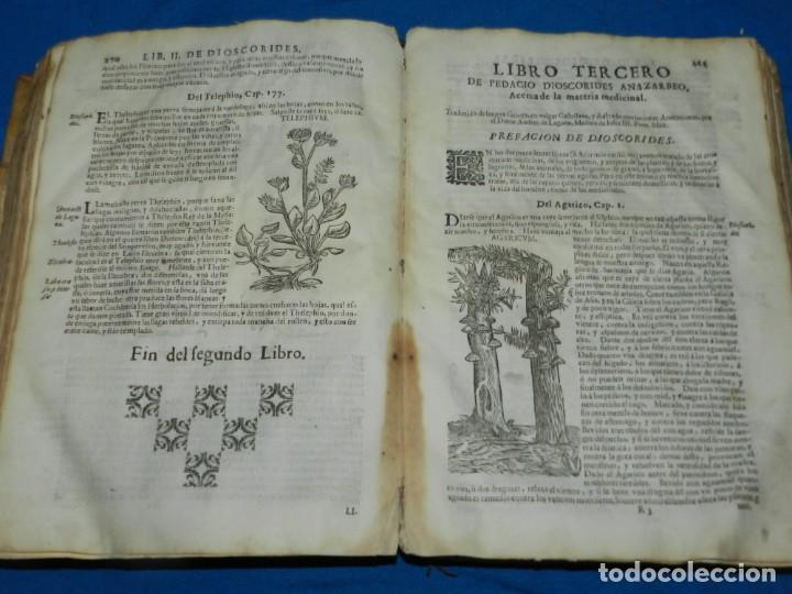 Libros antiguos: ANDRÉS DE LAGUNA - PEDACIO DIOSCORIDES ANAZARBEO ACERCA DE LA MATERIA MEDICINAL Y VENENOS MORTIFEROS - Foto 18 - 195486703