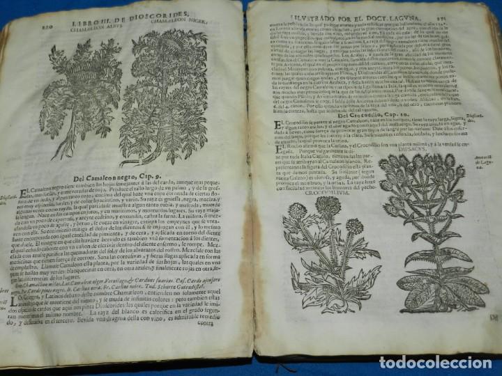 Libros antiguos: ANDRÉS DE LAGUNA - PEDACIO DIOSCORIDES ANAZARBEO ACERCA DE LA MATERIA MEDICINAL Y VENENOS MORTIFEROS - Foto 19 - 195486703