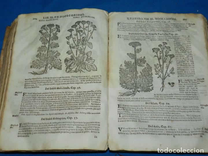 Libros antiguos: ANDRÉS DE LAGUNA - PEDACIO DIOSCORIDES ANAZARBEO ACERCA DE LA MATERIA MEDICINAL Y VENENOS MORTIFEROS - Foto 21 - 195486703