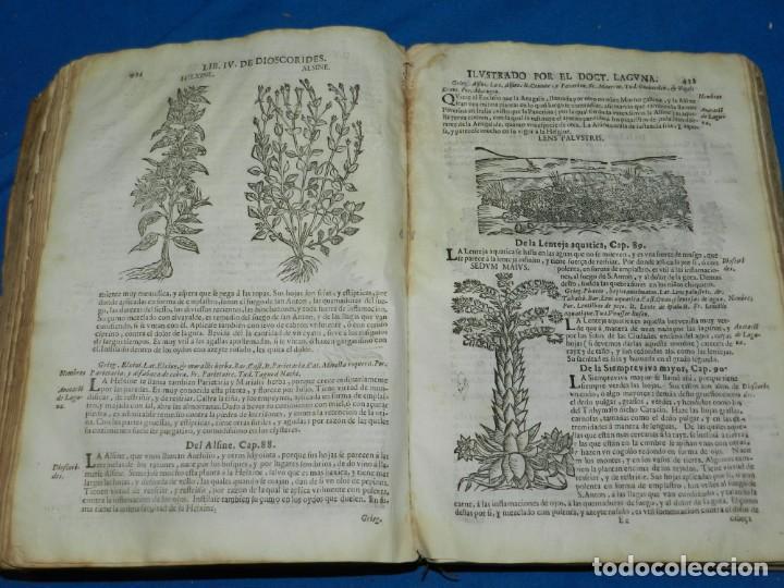 Libros antiguos: ANDRÉS DE LAGUNA - PEDACIO DIOSCORIDES ANAZARBEO ACERCA DE LA MATERIA MEDICINAL Y VENENOS MORTIFEROS - Foto 23 - 195486703