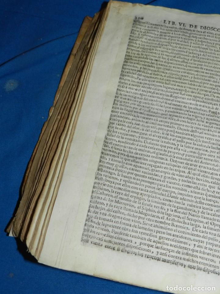 Libros antiguos: ANDRÉS DE LAGUNA - PEDACIO DIOSCORIDES ANAZARBEO ACERCA DE LA MATERIA MEDICINAL Y VENENOS MORTIFEROS - Foto 29 - 195486703