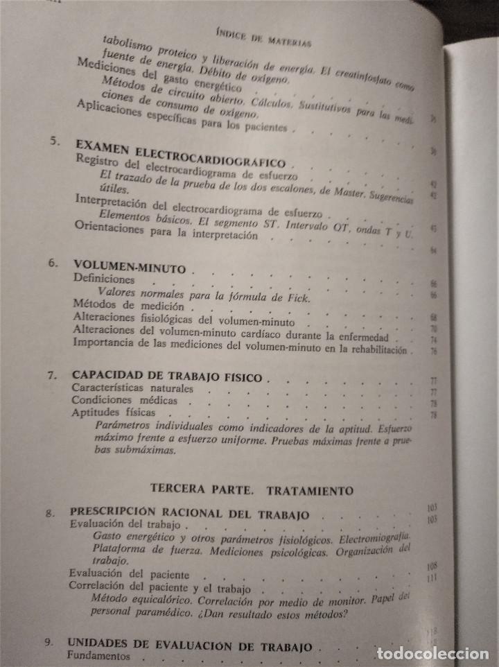 Libros antiguos: La Rehabilitación en Cardiología, Zohman -Tobis, 1ª Edición, Ediciones Toray, 1975 - Foto 5 - 195511342