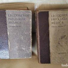 Libros antiguos: LECCIONES DE PATOLOGIA MEDICA.DR. JIMENEZ DIAZ, 3 TOMOS. Lote 195940786