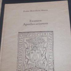 Libros antiguos: EXAMEN APOTHECARIORUM LIBRO FACSIMIL EDICION DE LUJO PEDRO BENEDICTO MATEO. Lote 196216013