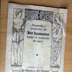 Libros antiguos: EL MEDICO DEL HOGAR,JENNY SPRINGER, DOCTORA EN MEDICINA,AÑO 1923,. Lote 196491720
