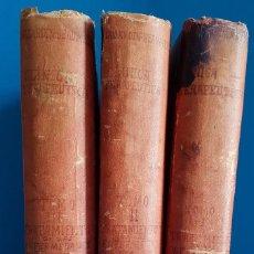 Libros antiguos: == AR51 - LECCIONES DE CLINICA TERAPEUTICA - 1893 - TRES TOMOS . Lote 196588796