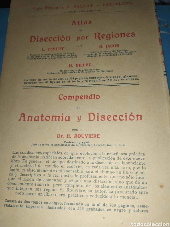 Libros antiguos: Anatomía bioscopica ,Dr aubaret 1923 - Foto 8 - 197530532