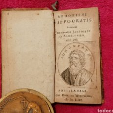 Libros antiguos: APHORISMI HIPPOCRATIS. THEODORO JANSSONIO AB ALMELOVEEN. AMSTELAEDAMI. 1685. Lote 197773911