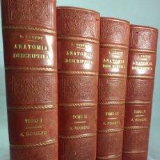 Libros antiguos: TRATADO DE ANATOMIA HUMANA. TESTUT. LATARJET. 4 TOMOS. SALVAT EDITORES BARCELONA 1932. Lote 198314996
