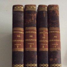 Libros antiguos: TROUSSEAU / PIDOUX TRATADO DE TERAPÉUTICA Y MATERIA MÉDICA. 4 TOMOS -1847/1849 VALENCIA. Lote 198978383