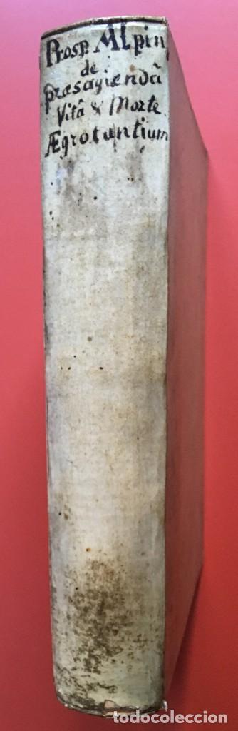 LIBRO MEDICINA - 1710 - PROSPERI ALPINI - VIDA MUERTE (Libros Antiguos, Raros y Curiosos - Ciencias, Manuales y Oficios - Medicina, Farmacia y Salud)
