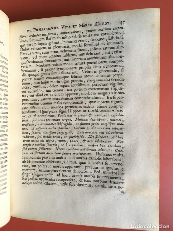 Libros antiguos: LIBRO MEDICINA - 1710 - PROSPERI ALPINI - VIDA MUERTE - Foto 7 - 199555426