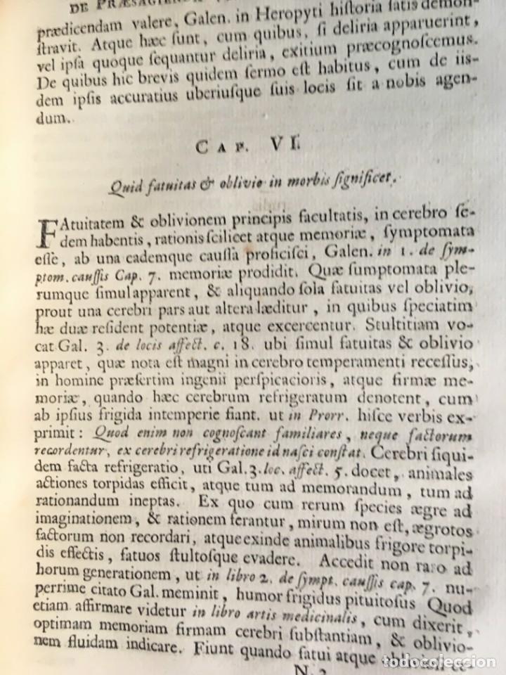 Libros antiguos: LIBRO MEDICINA - 1710 - PROSPERI ALPINI - VIDA MUERTE - Foto 9 - 199555426