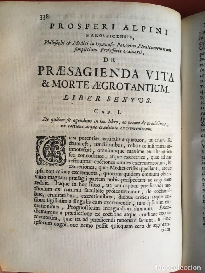 Libros antiguos: LIBRO MEDICINA - 1710 - PROSPERI ALPINI - VIDA MUERTE - Foto 10 - 199555426