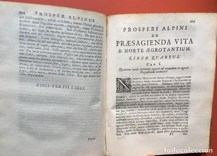 Libros antiguos: LIBRO MEDICINA - 1710 - PROSPERI ALPINI - VIDA MUERTE - Foto 11 - 199555426