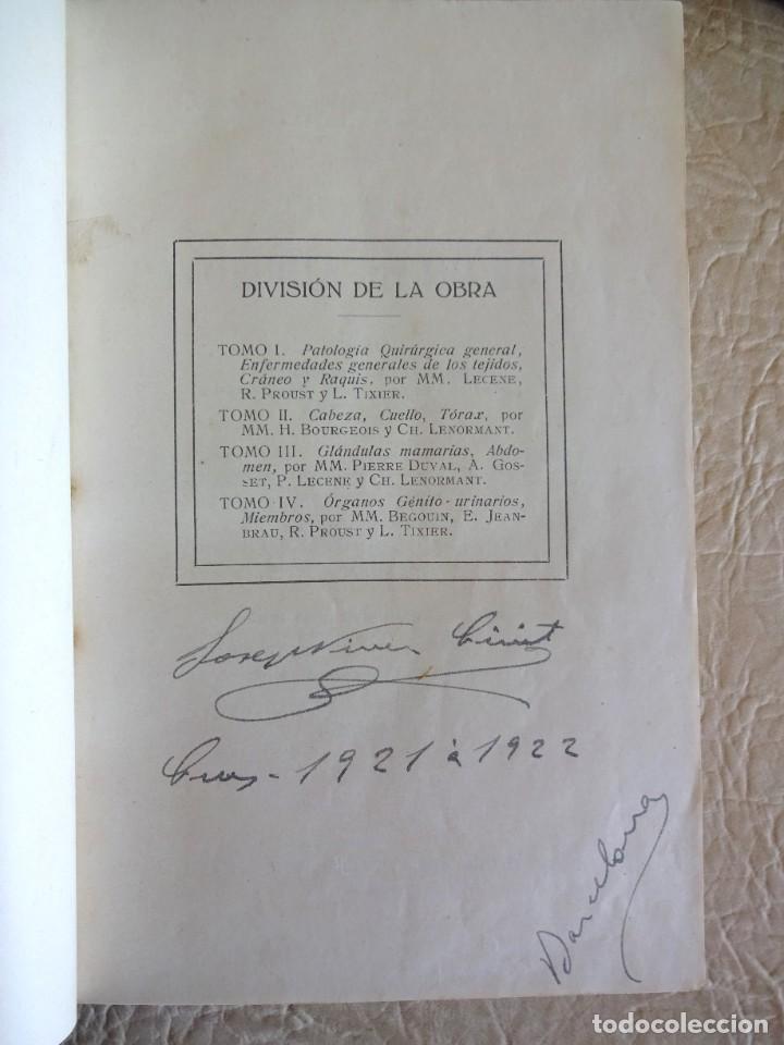 Libros antiguos: TRATADO DE PATOLOGÍA QUIRURGICA 4 TOMOS P. LECENE L. TIXIR R. PROUST AÑO 1912 BEGOUIN - Foto 7 - 132893442