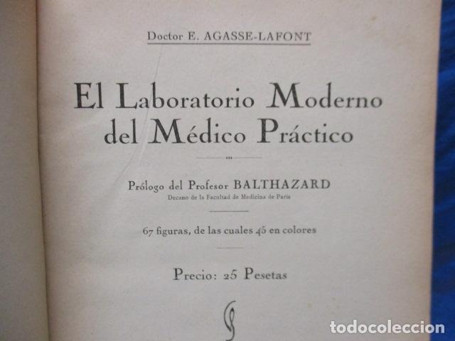 Libros antiguos: El Laboratorio Moderno del Médico Práctico del año 1933 Le Monde Medical. Dr. Agasse Lafont - Foto 7 - 233347610