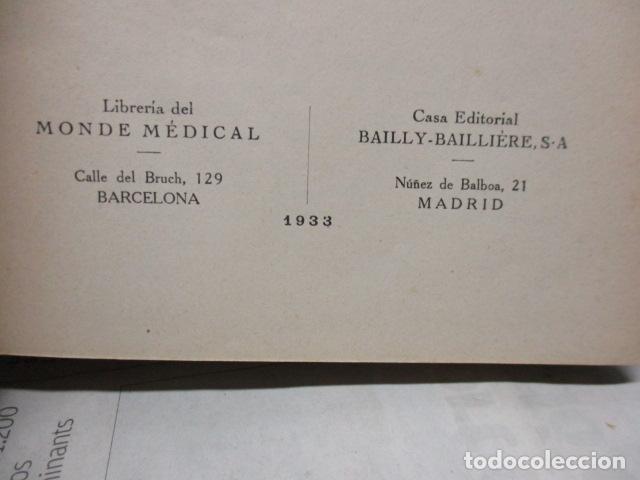 Libros antiguos: El Laboratorio Moderno del Médico Práctico del año 1933 Le Monde Medical. Dr. Agasse Lafont - Foto 8 - 233347610