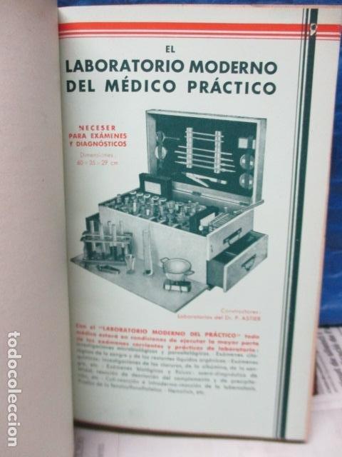 Libros antiguos: El Laboratorio Moderno del Médico Práctico del año 1933 Le Monde Medical. Dr. Agasse Lafont - Foto 12 - 233347610