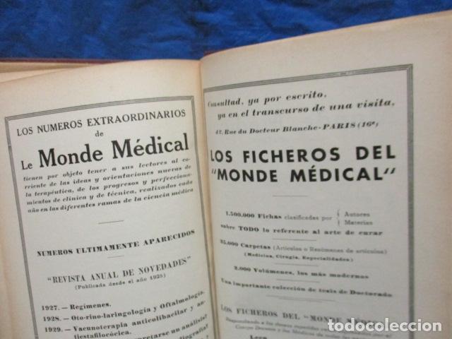 Libros antiguos: El Laboratorio Moderno del Médico Práctico del año 1933 Le Monde Medical. Dr. Agasse Lafont - Foto 32 - 233347610