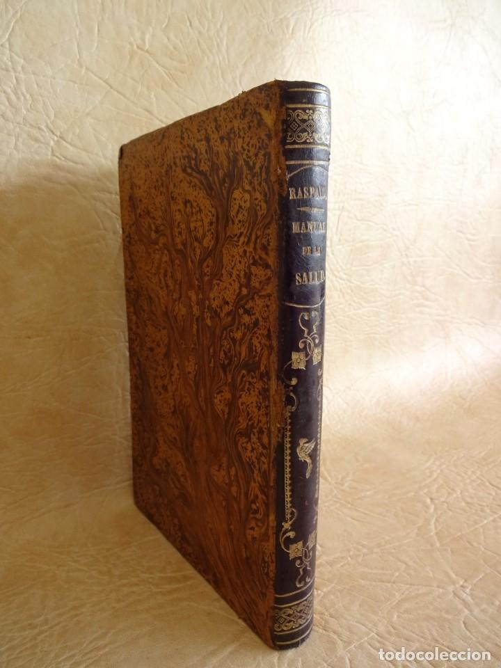 Libros antiguos: libro Biblioteca de Raspail manual de la salud causas y defensas farmacopea año 1877 - Foto 2 - 130233870