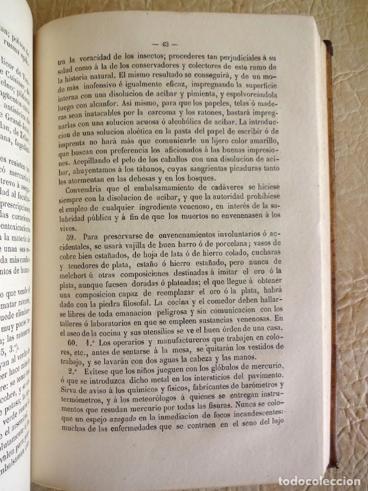 Libros antiguos: libro Biblioteca de Raspail manual de la salud causas y defensas farmacopea año 1877 - Foto 12 - 130233870