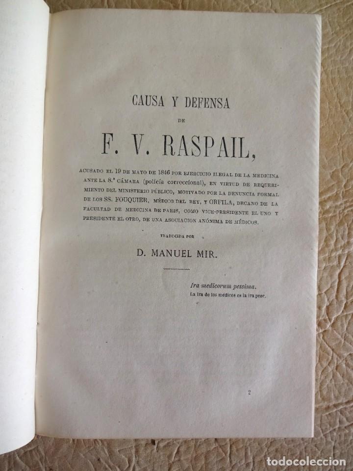 Libros antiguos: libro Biblioteca de Raspail manual de la salud causas y defensas farmacopea año 1877 - Foto 14 - 130233870