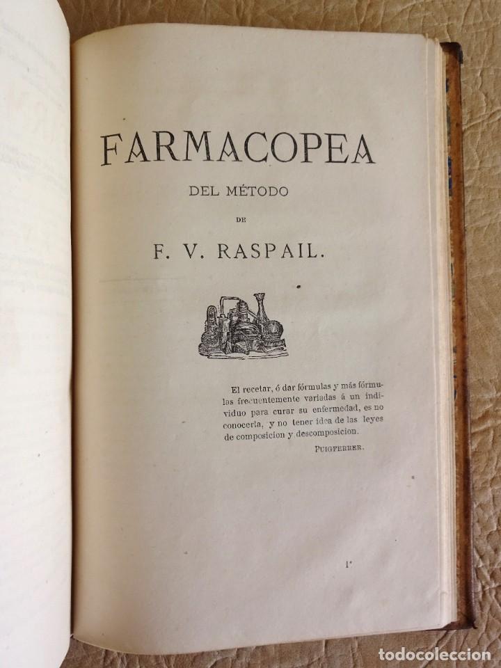 Libros antiguos: libro Biblioteca de Raspail manual de la salud causas y defensas farmacopea año 1877 - Foto 16 - 130233870