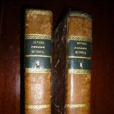 Libri antichi: NUEVOS ELEMENTOS DE QUIMICA APLICADA A LA MEDICINA Y ARTES F,ALVAREZ 1838 MADRID TOMO 1-2. Lote 201271102