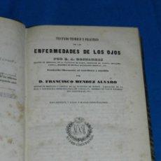 Libros antiguos: (MF) FRANCISCO MENDEZ ALVARO - TRATADO DE LAS ENFERMEDADES DE LOS OJOS, MADRID 1847. Lote 201487642