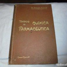 Libros antiguos: TRATADO DE QUIMICA FARMACEUTICA TOMO II.QUIMICA ORGANICA.-ERNESTO SCHMIDT.-2ª EDICION ESPAÑOLA. Lote 202349171