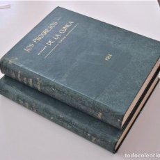 Libros antiguos: LOS PROGRESOS DE LA CLÍNICA DOS TOMOS AÑO COMPLETO DE 1914. Lote 202394430