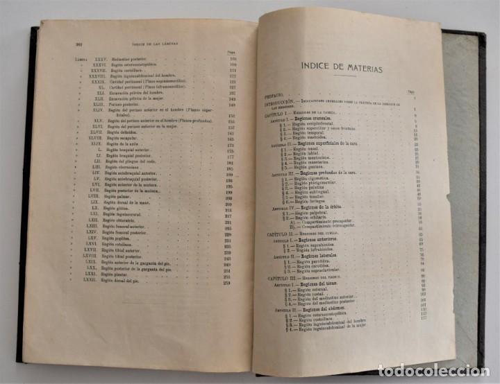 Libros antiguos: ATLAS DE DISECCIÓN POR REGIONES - TESTUT, JACOB Y BILLET - CASA EDITORIAL P. SALVAT 1921 - Foto 11 - 202398743