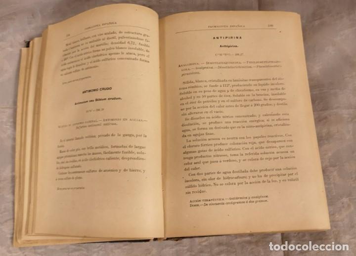 Libros antiguos: Farmacopea Española Madrid 105 Séptima Edición - Foto 4 - 202634921