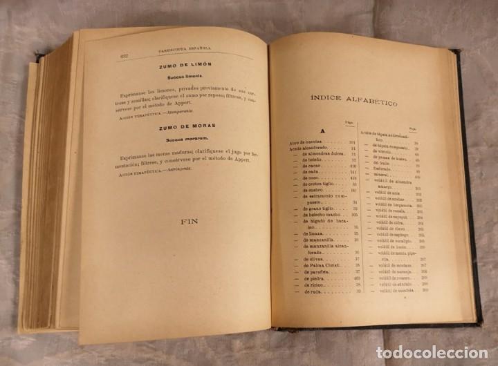 Libros antiguos: Farmacopea Española Madrid 105 Séptima Edición - Foto 5 - 202634921