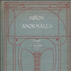 Libros antiguos: NIÑOS ANORMALES. A. BINET Y TH. SIMON.. Lote 203911960