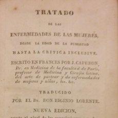 Libros antiguos: TRATADO DE LAS ENFERMEDADES DE LA MUJERES, CAPURON, MADRID, 1837, TOMO 2. Lote 204611332