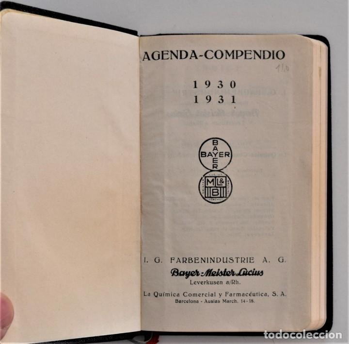 Libros antiguos: LOTE 3 COMPENDIO BAYER DIFERENTES AÑOS 1930-31, 1936 Y 1942 SIN USAR - Foto 3 - 205279246