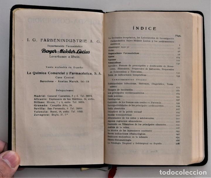 Libros antiguos: LOTE 3 COMPENDIO BAYER DIFERENTES AÑOS 1930-31, 1936 Y 1942 SIN USAR - Foto 4 - 205279246