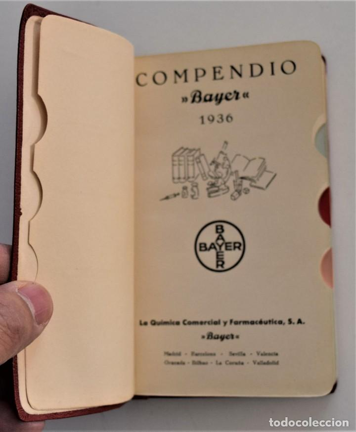 Libros antiguos: LOTE 3 COMPENDIO BAYER DIFERENTES AÑOS 1930-31, 1936 Y 1942 SIN USAR - Foto 8 - 205279246