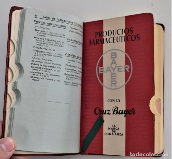 Libros antiguos: LOTE 3 COMPENDIO BAYER DIFERENTES AÑOS 1930-31, 1936 Y 1942 SIN USAR - Foto 9 - 205279246