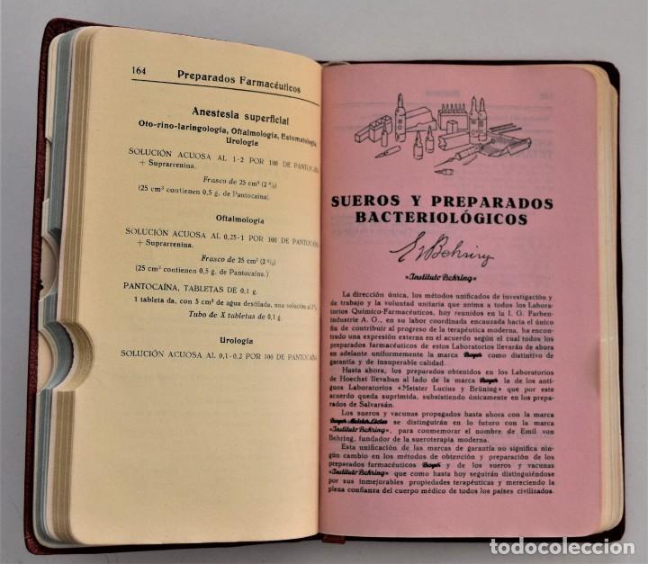 Libros antiguos: LOTE 3 COMPENDIO BAYER DIFERENTES AÑOS 1930-31, 1936 Y 1942 SIN USAR - Foto 10 - 205279246