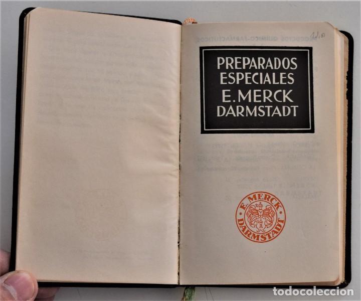 Libros antiguos: LIBRITO DE CONSULTA PREPARADOS ESPECIALES E. MERCK DARMSTADT AÑO 1936 - BUEN ESTADO - Foto 4 - 205279746