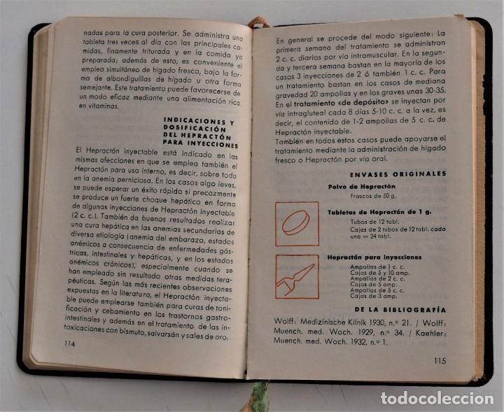 Libros antiguos: LIBRITO DE CONSULTA PREPARADOS ESPECIALES E. MERCK DARMSTADT AÑO 1936 - BUEN ESTADO - Foto 5 - 205279746