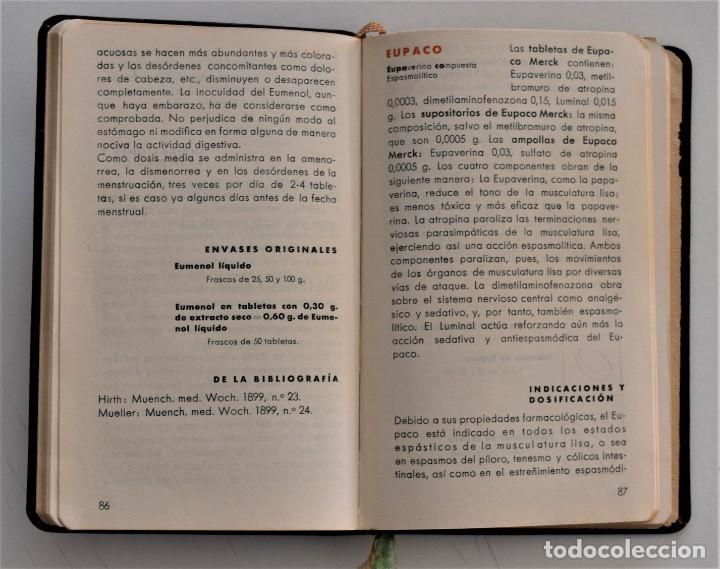 Libros antiguos: LIBRITO DE CONSULTA PREPARADOS ESPECIALES E. MERCK DARMSTADT AÑO 1936 - BUEN ESTADO - Foto 6 - 205279746