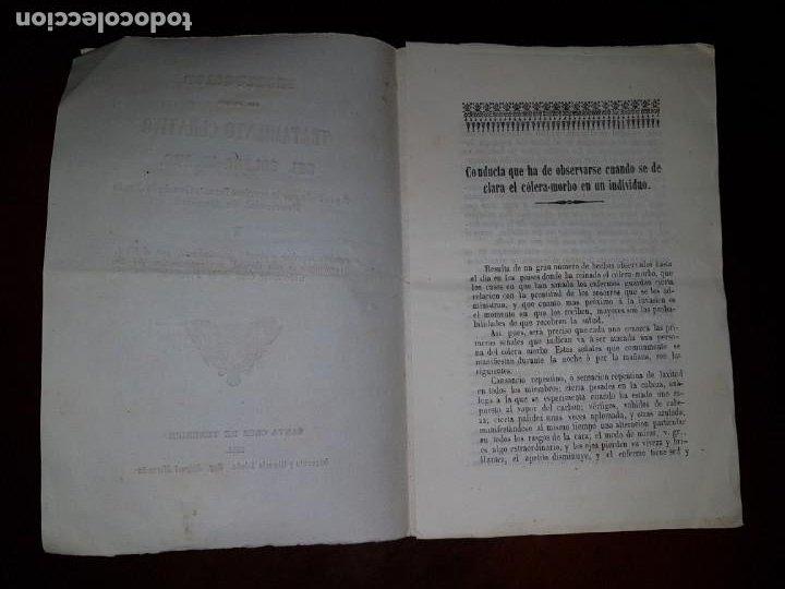 Libros antiguos: Instrucción del primer tratamiento curativo del cólera-morbo, 1851 - Foto 2 - 205858377